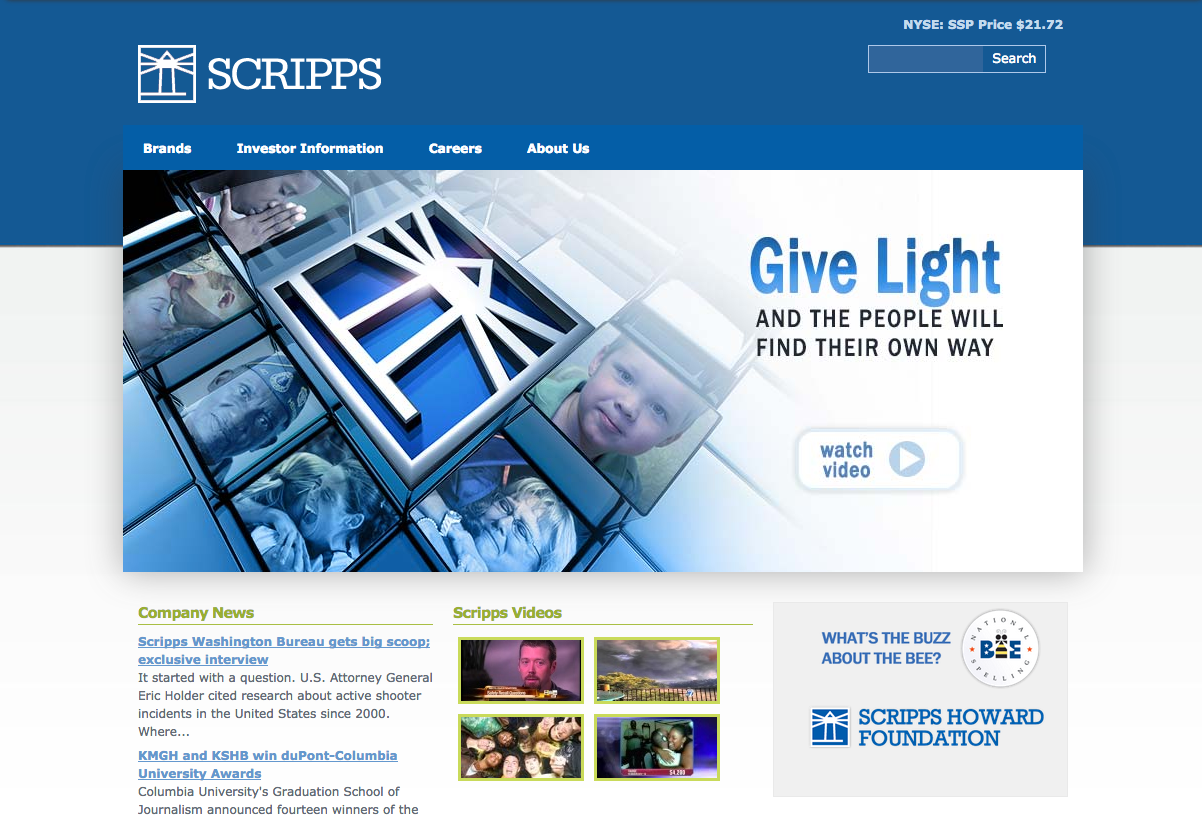 SEO for EW Scripps Newspaper Publisher & Media Company