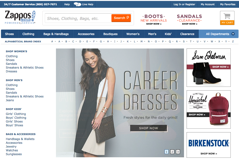 SEO and Content Strategy for Fashion Store Zappos