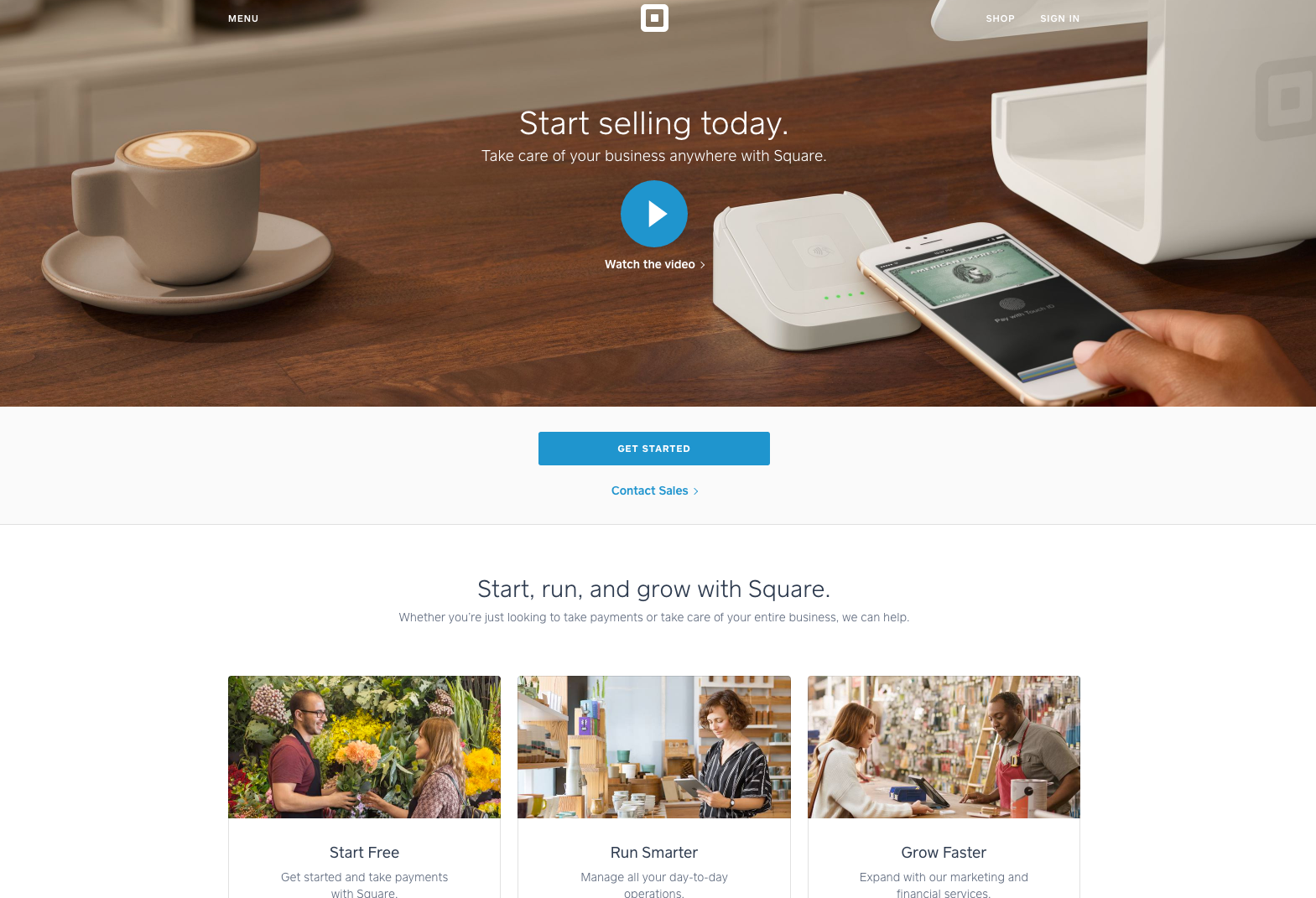 SEO for mobile payment company square